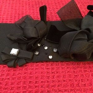 NWT White House Black Market Silk Embellished Belt